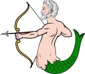 Merman Drawing Bow and Arrow