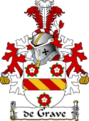 Dutch Coat of Arms for de Grave