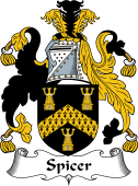 English Coat of Arms for Spicer or Spycer
