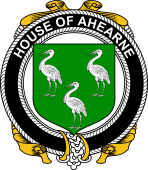 Irish Coat of Arms Badge for the AHEARNE (Aherne) family